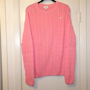 Lilly Pulitzer Cotton Cable Sweater | Pink | Large